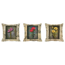 meSleep Frames Digitally Printed Cushion Cover -3PC Combo,  beige