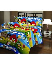 Kids Cartoon Angry Birds Blanket 1013, multicolor