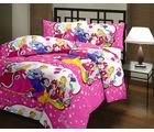 Princess Double Bedsheet With 2 Pillow Covers, multicolor