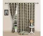 Dotted green curtain (Multicolor, Curtain(54 inch x 60 inch))