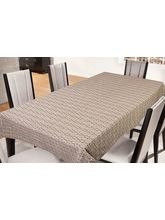 Freely Coffee Cotton Table Cover For 8 Seaters, Mu...