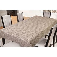 Freely Coffee Cotton Table Cover For 6 Seaters, multicolor