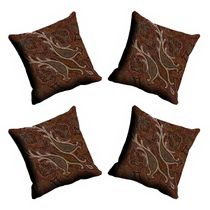 meSleep Abstract Paisely Cushion Cover - CDEK-09-4,  beige