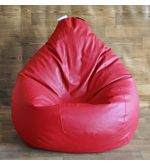 Style Homez Classic Bean Bag Cover, red, xxl