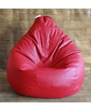 Fancy Style Homez Bean Bag XXL Classic - Filled With Beans, Red, Xxl