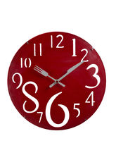 Charming Red Huge Numeral Wall Clock, Red