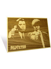 Engrave Pulp Fiction Plaque (Multicolor)