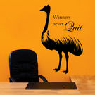 Creative Width Winners Never Quit Wall Decal, multicolor, large