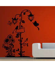Creative Width Birds N The Lamp Post Wall Decal, Multicolor, Large