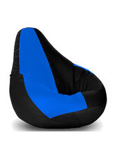Story At Home Giant Designer Recliner Faux Leather Bean Bag Chair Cover - XXL, design 2