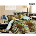 Story King 3D Double Bed Sheet With Pillow Covers,Design 5