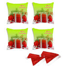 meSleep Set of 4 Merry Christmas Digitally Printed Cushion Cover (16x16) -With Free 2 Pcs,  green
