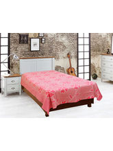 Elegance Floral Cotton Single Bed Sheet, Pink