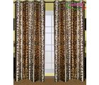 HandloomTrendz Stylish Eyelet Design Door Curtain, brown