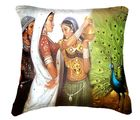 Belkado Digital Print Indian Woman III Cushion Cover, multicolor