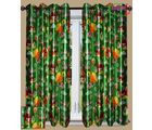 HandloomTrendz Beautiful Angry Bird Print Kids Window Curtain(CnABgreen4X5), green