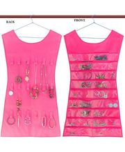 Dress Shape Double Sided -Jewellery Organizer - Pink, Pink