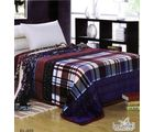 Welhouse India Soft Square Design Double Bed Ac Blanket, multicolor