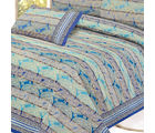 Paisley Gold Print Pure Cotton Double Bed Sheet Set, multicolor