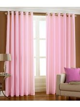 La Elite Beautiful Door Curtain - Set Of 2, Pink