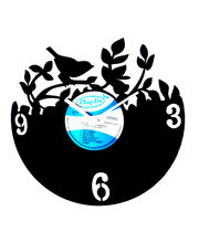 Panache Birds Wall clock, black