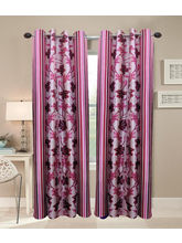 La Elite Beautiful Long Door Curtain - 1 Pc, Wine