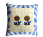 Aapno Rajasthan Cotton Cushion Cover Set with Floral Block Print, multicolor