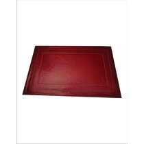 Dimensions Dining Table Mats, maroon