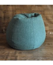 Style Homez Classic Jute Bean Bag Cover, Green, Xxl