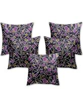Story At Home Cushion Cover Set Of 5, Black