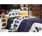 La Elite Marvelous Abstract Print Double Bed Sheet, blue