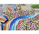Valtellina Attractive Tiger Art Print Double Bed Sheet, multi