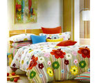 Aapno Rajasthan Cotton Double Bedsheet with Shiny Floral Print, multicolor