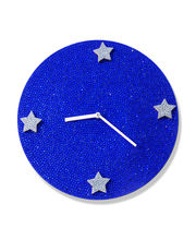 Zeeshaan Full Moon Sapphire Wall Clock, multicolor