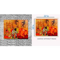 meSleep Canvas painting without frame - Multiple,  orange