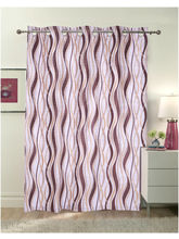 Luk Luck Poly Cotton Ring Rod Door Curtains, Brown...