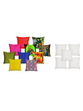 MeSleep 5 Pc 3D Cushion Covers And 5 Pc Quilted St...