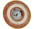 Marvel in Marble - Gold Embossed round Alarm clock (Multicolor)
