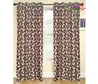 HandloomTrendz Stylish Eyelet Style Door Curtain, brown