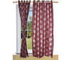 Shandar Cancer Curtain Maroon Window (Brown)