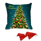 meSleep Christmas Tree Digitally Printed Cushion Cover (16x16) - With 2 Pcs, multicolor