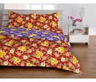 Welhome Basic Red Double Bed sheet