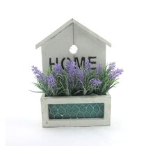 Importwala Home Wall Hanging Planter With Flower,  purple
