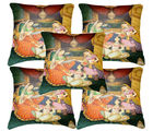 Belkado Digital Print-Set of 5 Indian Princess Cushion Covers, multicolor