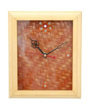 Bamboo Dial Wall Clock, brown