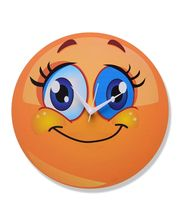Zeeshaan Blue Eyes Smiley Wall Clock, multicolor