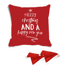 meSleep Christmas Digitally Printed Cushion Cover (16x16) - With 2 Pcs,  red