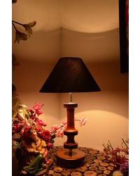 Yashasvi Royal Shade Wooden Lamp,  black