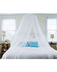 SLR Nets Euro Style mosquito net front open dome haniging,  white