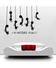 Creative Width Missing You Wall Decal, Multicolor, Medium